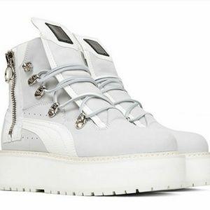 ISO Puma Fenty White Sneaker Boots Platforms